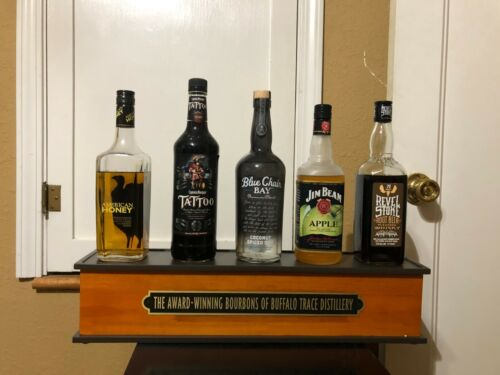 BUFFALO TRACE BOURBON 5 BOTTLE GLORIFIER MAN CAVE DECOR WHISKEY HOLDER