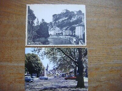 Lot de 2 cartes de COUVIN ( Coude de l'Eau Noire / Place Piron )