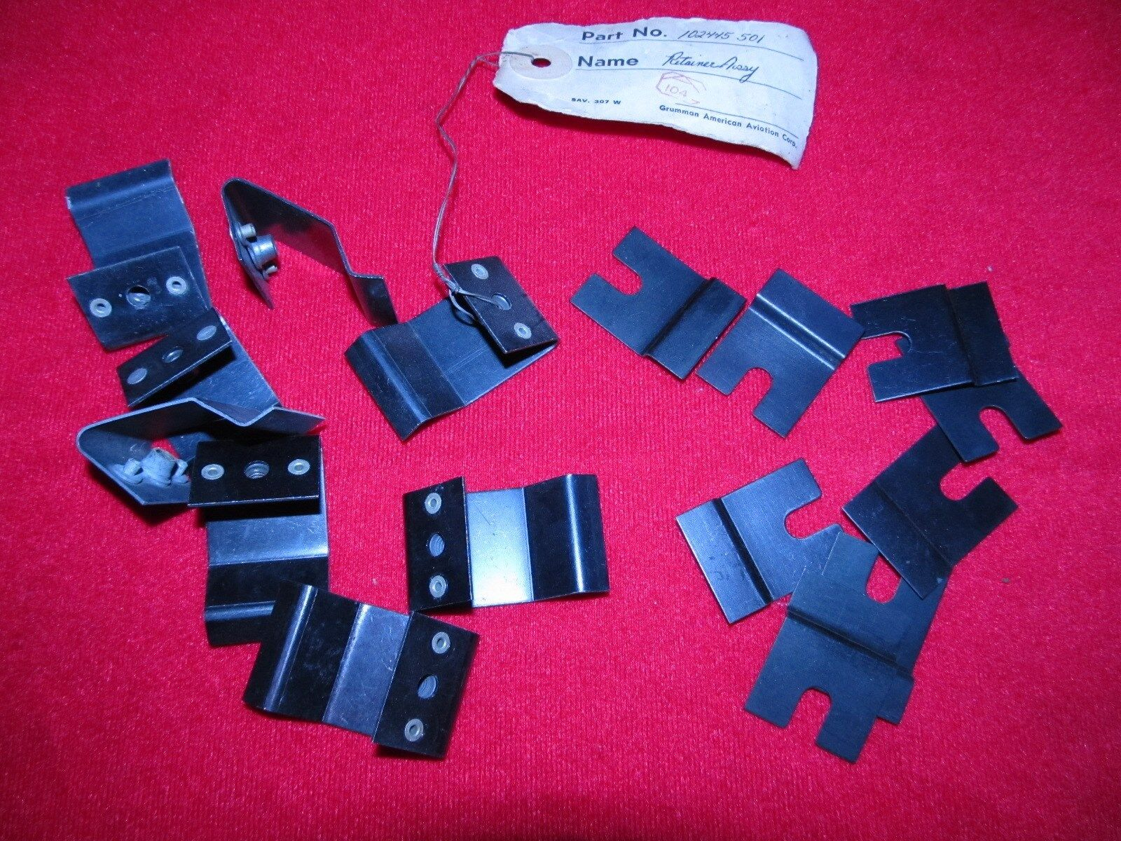 Set of 16 Grumman 2 place Sunscreen Clips for AA-1B, S/N 238 and on and AA-1Cs