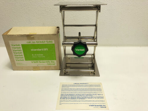 "VWR 6 x 6"" Lab Support Jack "" Lift 60142--364 - IN BOX"