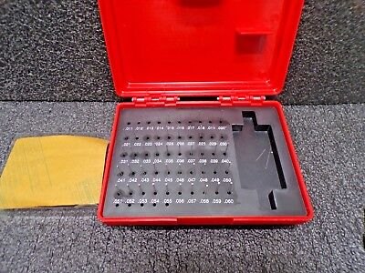 Value Collection 50 Piece 0.011 To 0.06 Inch Plug Pin Gage Set Minus 0.0002 I