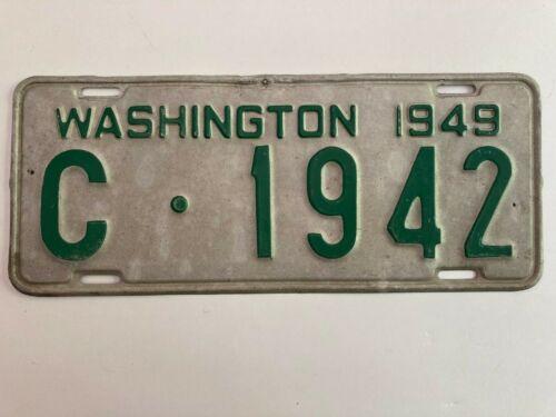1949 Washington License Plate All Original NICE