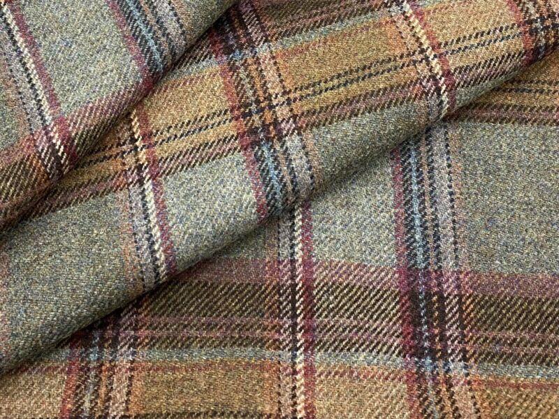 Ralph Lauren Tartan 100% Wool Fabric- Keighley Plaid / Shetland 6 yds LFY61141F