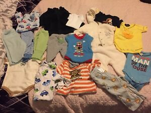 0-3 month baby boy clothing - 17 items!