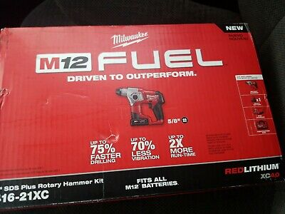 Milwaukee 2416-21xc 12-volt 58-inch 4.0ah M12 Fuel Sds-plus Rotary Hammer Kit