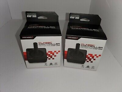 TWO  NEW JOYSTICK WIRED CONTROLLERS FOR ATARI FLASHBACK 5 VIDEO GAME SYSTEM