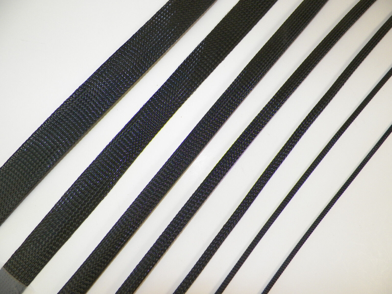 BLACK BRAIDED EXPANDABLE Flex Sleeve Wiring Harness Loom Flexable ...