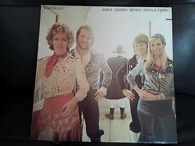 "ABBA - ""Waterloo"" 1975 Reissue Vinyl Record LP EX! Atlantic SD 18101"