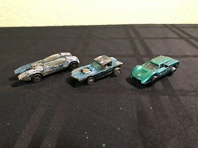 hot wheels redlines lot Of 3 Ford J Car Python Splitting Image No Reserve Read!