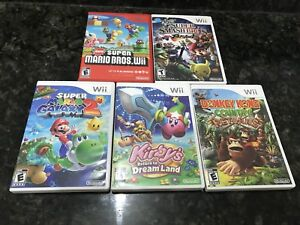 5 Nintendo Wii and Wii U games. All like new