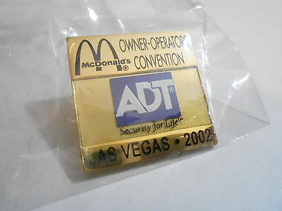 NOS McDonalds Advertising Enamel Pin #49 - 2002 LAS VEGAS - ADT