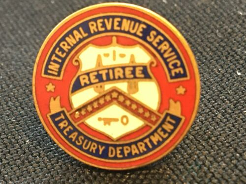 US Treasury Department IRS Retiree Pin ~ Marked 1/20 10K Gold Filled
