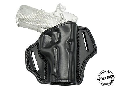 OWB Open Top Right Hand Leather Belt Holster Fits SIG SAUER 1911 Ultra Comp. 45 Open Top Sig