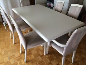 Rectangle dinning table set