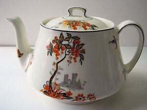 A STUNNING ALFRED MEAKIN ART DECO TEA POT