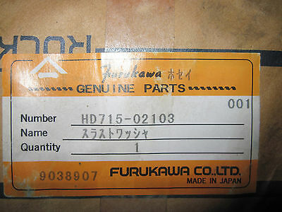 Furukawa Rock Drill Drifter Hammer Thrust Washer Part Hd715-02103 Brand New