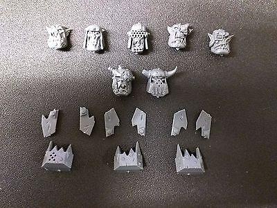 Warhammer 40k Ork Meganobz Heads Bits