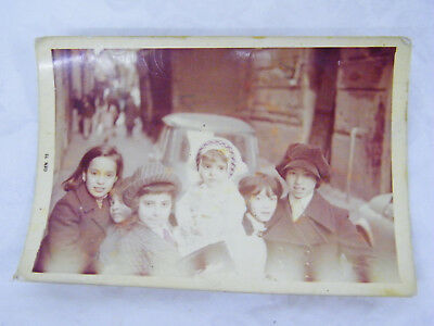 Vintage 1971 Real Photo Christmas Day Children Going to Church Naples, Italy