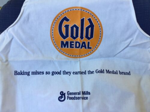 """GENERAL MILLS GOLD MEDAL FLOUR APRON CHEF BAKER HEAVY COTTON FABRIC 32"""""""