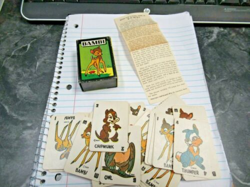Vintage WDP Russell 1946 Bambi Vol 4 Card Game Complete Nice Buy it Now!!
