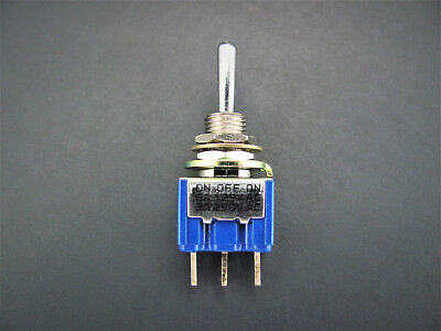 Spdt Toggle Switch - On-off-on - 6a 125v - Solder Terminals - Fuji 8a1022a