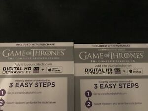 Game of thrones seasons 1-7 digital copy