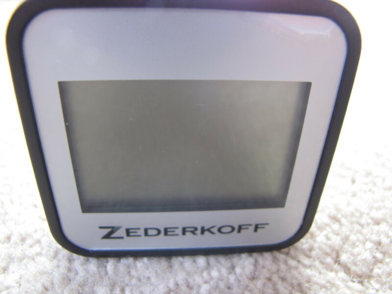 Zederkoff Digital Square Hygrometer/Thermometer For Cigar Humidors - Silver-New