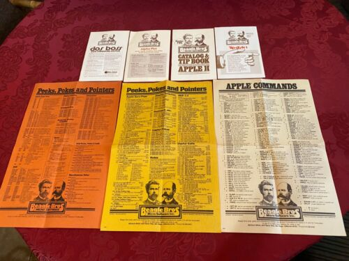✅ Apple II Beagle Brothers Collection , Manuals Only