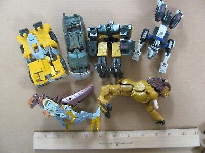 Lot of Vintage Transformers Lion Beast Construction