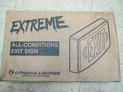 Lithonia Lighting Extreme All Conditions Exit Sign New