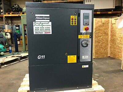 G11 Atlas Copco Base Mount Enclosed 15 Hp Rotary Screw Air Compressor