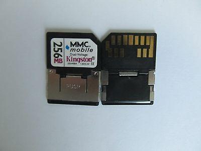 - Kingston 256MB Dual Voltage RS-MMC Mobile MultiMedia Card