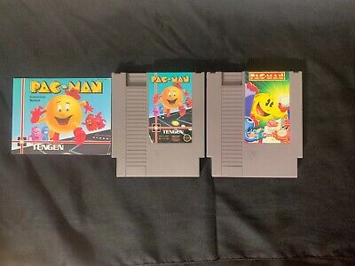 Nes Pac-man Tengen & Pac-man Namco Price To Sell Due To Wear