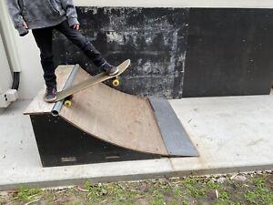 Skateboard scooter quarter pipe ramps x 2 half pipe
