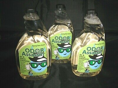 Odor Assassin Air and Fabric Freshener Spring Rain Scent 32 Fl Oz 3 Pack