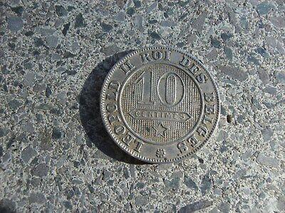 10 centimes nickel 1894 FR legende Française léopold II Belgique