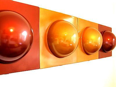 4 Bubble Elemente 70er 60er Style 2 gold  2 kupfer Bild Bilder Deko Nr 21