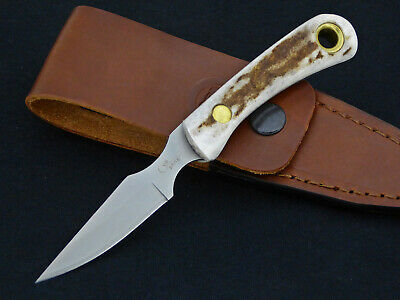 Knives of Alaska Knife Cub Bear Stag Horn Hunting Skinning Caping Skinner Grip Alaska Cub Bear Knife
