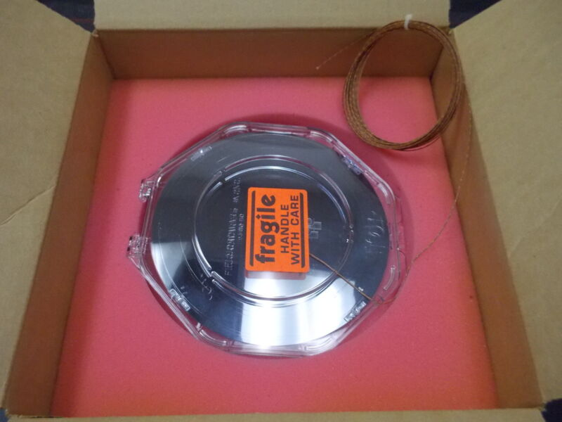 """WATKINS JOHNSON 978400-001 PROFILING 8"""" SILICON TEST WAFER NOTCHED, ONE POINT"""