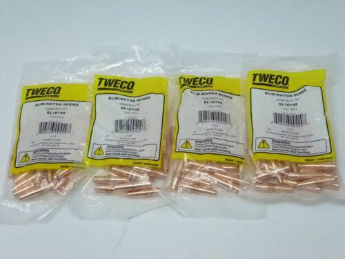 (100) Tweco EL16T45 Contact Tips Heavy Duty 16T45 1160-1604