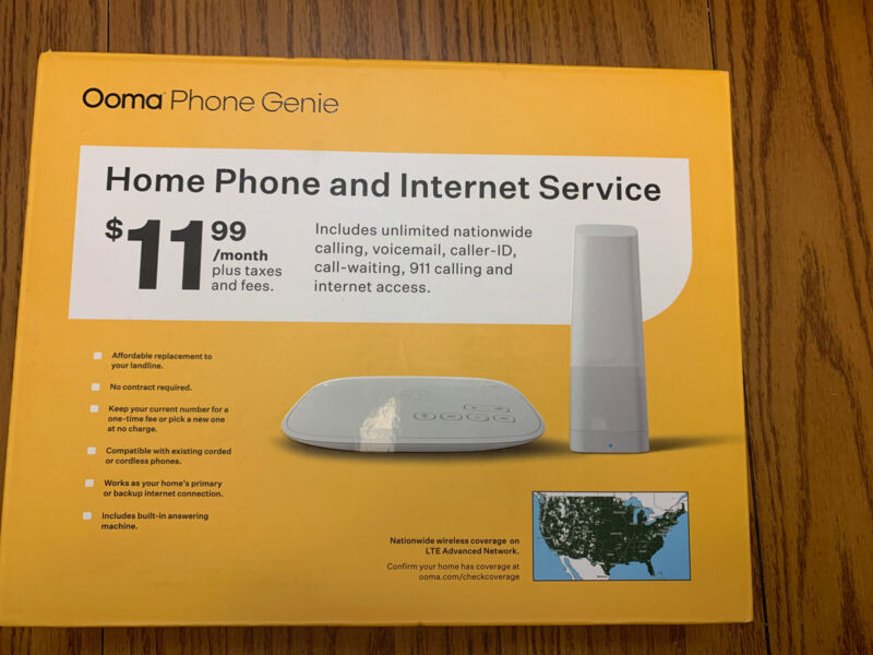 Ooma Phone Genie Home Phone And Internet Service Factory Sealed Brand New