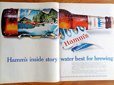 1967 Hamm's Beer Ad Inside Story Water Best for (Best Water For Beer)