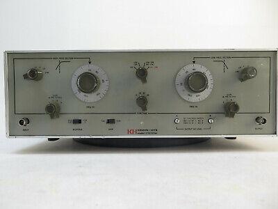 Krohn-hite Model 3750 - Low Band Pass Filter .02-20 Khz Variable Filter