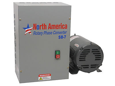 Sb-7 Smart-boost 7.5hp Digital Rotary Phase Converter Custom Baldor Generator
