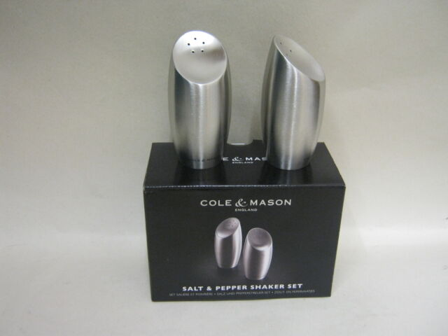 New Cole And Mason Salt And Pepper Shaker Set Exbury Stainless Steel H101749
