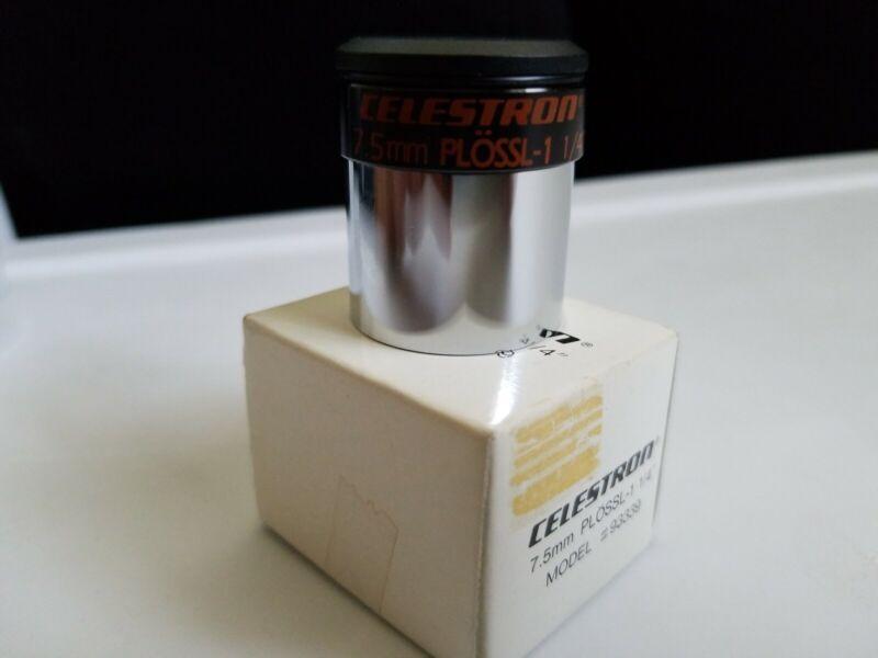 "CELESTRON 7.5mm TELESCOPE EYEPIECE PLOSSL 1/4"" (PLOSSL-1) 93339"