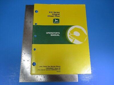 John Deere Operators Manual Om-mn200097 610 Series Integral Chisel Plow M5369