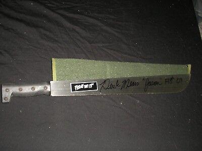 DEREK MEARS Signed STEEL MACHETE  Jason Voorhees Autograph Friday the 13th 2009 (Jason Voorhees Machete)
