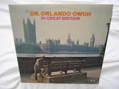 Dr. Orlando Owoh IN BRITAIN  1 LP Vinyl 1972 DECCA Nigeria VG++Juju Apala