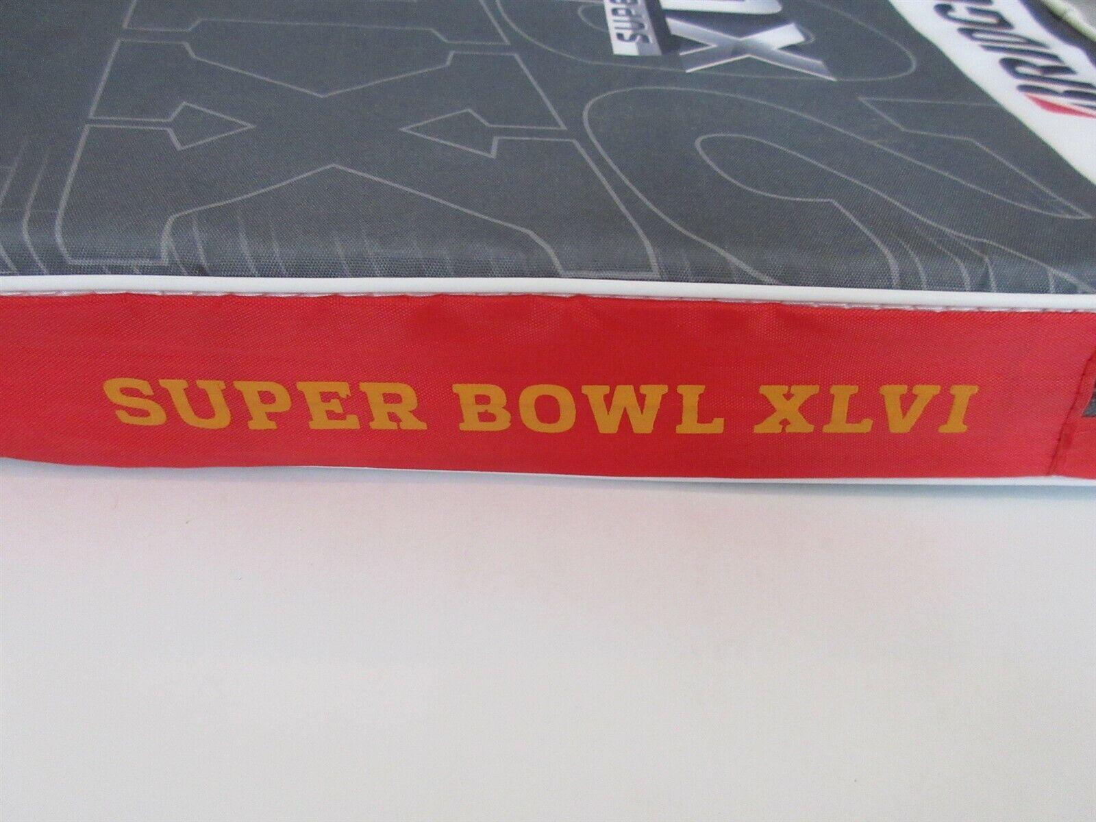 SUPER BOWL XLVI SEAT CUSHION SGA INDIANAPOLIS 2012 GIANTS MANNING NFL FOOTBALL - $24.99